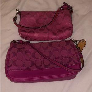 2 pink Coach purses!